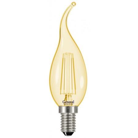 Лампа светодиодная GLDEN-СWS-7-E14 золотая