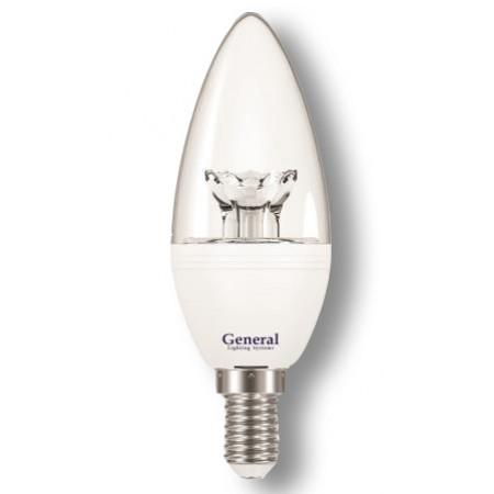Лампа светодиодная GLDEN-CC-7-230-E14 (прозрачная)