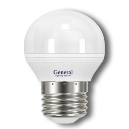 Лампа светодиодная GLDEN-G45F-5-230-E27