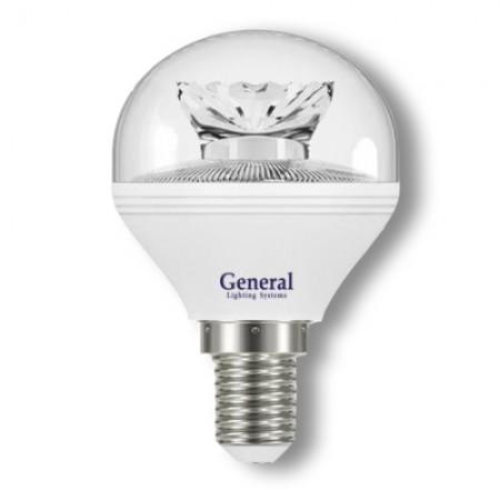 Лампа светодиодная GLDEN-G45C-8-230-E14