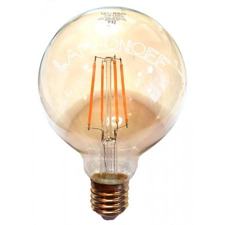 Винтажная светодиодная лампа  GLDEN G95S-8-230-E27
