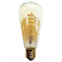 Винтажная светодиодная лампа  GLDEN-ST64SS-7-230-E27