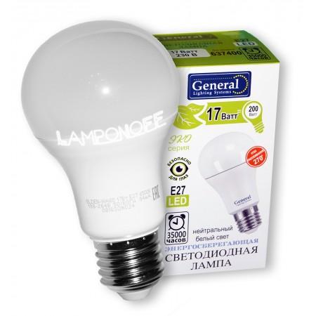Лампа светодиодная GLDEN-WA60-17-230-E27