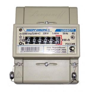 Счетчик однотарифный СЕ6807П-R5-145 (5-60А)